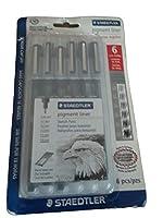 Staedtler 6pc. Pigment Liner Sketch Pens ~Black Ink~ by Staedtler