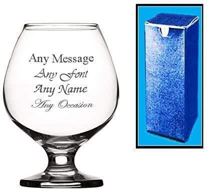 Personalised Engraved Brandy Glass Wedding Birthday Best Man Usher Godfather
