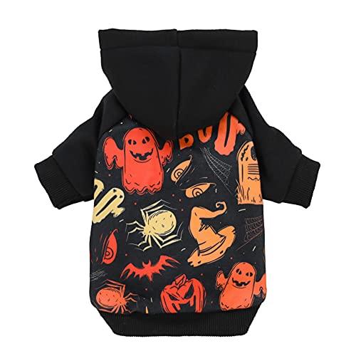 Fitwarm Halloween Dog Costume Puppy Hoodies Pumkin Doggie Winter Clothes Sweatshirt Pet Hooded Coat Cat Jackets X-Large