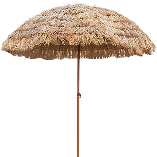 NLXX Sombrillas para Patio Paraguas de Estilo Hawaiano para Patio de Playa 8 Varillas UPF 50+ con Bolsa de Transporte inclinable para Patio, jardín, Playa, Piscina, Patio Trasero