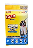 Glad for Pets Heavy Duty Ultra-Absorbent Activated Carbon Puppy Pads with Leak-Proof edges | Training Dog Pee Pads for Dogs Perfect for Training New Puppies
