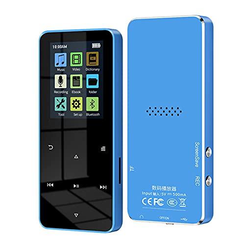 MP3 MP4 Music Video Player, 1.8 Polegadas Metal Touch, Bluetooth 4.2 Compatível com Cartão, com FM Alarm Clock Pedometer e-Book Alto-falante embutido