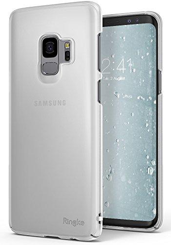 サムスン Galaxy S9 ケース Ringke [Slim] 超薄型ケース ストラップホール 落下防止 スクラッチ保護 スマホケース スリム ライト docomo SC-02K au SCV38 (Frost White)