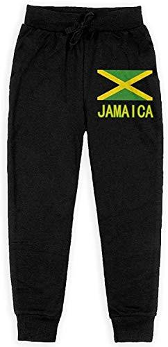 VstiSsxhdai Jogginghose für die Jugend, Fit Jamaica Flag Pride Drawstring Pants