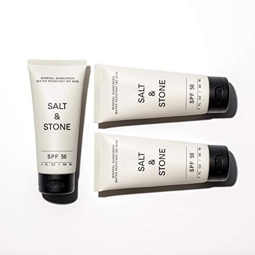 Salt & Stone - Natural Sunscreen + Organic Sunscreen SPF50 Sports and Reef Safe+ Non Greasy Sunscreen, Non GMO, Cruelty…