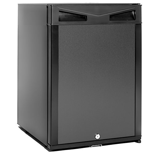 Smad Absorption Mini Fridge 12V 110V Compact Refrigerator with Lock Reversible Door No Noise, 1.0 cu.ft