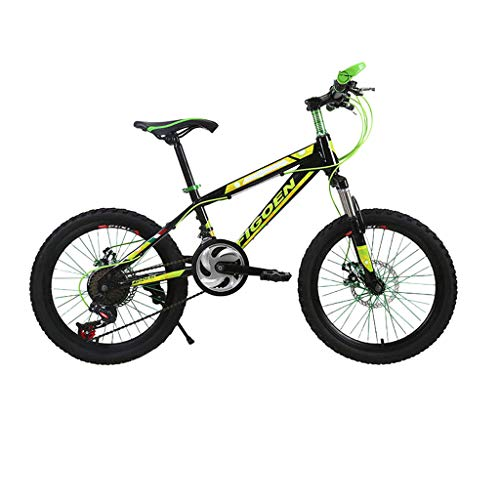 Blingko BMX Bike 20' Wheel, Adult Student Bicycle Outdoors Bike High-carbon Steel Frame, 21 Speed (Green)