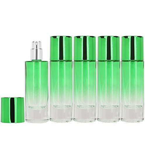 Botella de spray de perfume Contenedor de perfume conveniente para mujeres y niñas para uso en viajes para perfumes para uso doméstico(green)