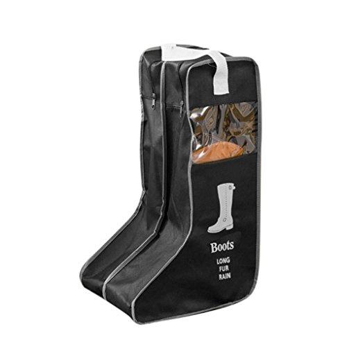 Wasserdichte Stiefeltasche Schultasche Faltbar Schuhbeutel Staubbeutel mit Klarsichtfenster Reise-Schuhaufbewahrungstasche mit separatem Fach