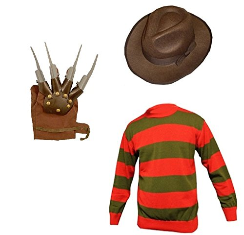 Unisex Kids Boys Girl's Horror Halloween Fancy Dress inc HAT, Jumper Set Ages 7/8 9/10 11/12 (Age 8, Red)