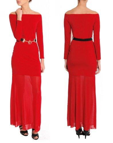 Rare London Damen Kleider/ Party & Evening Maxi - Rot - Red - 36 (Herstellergröße : Size 8)