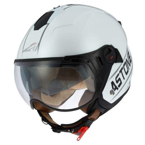 Astone Helmets - MINIJET S SPORT COOPER graphic - Casque jet compact - Casque de moto look sport - Casque de scooter mixte - Casque en polycarbonate - white/black S