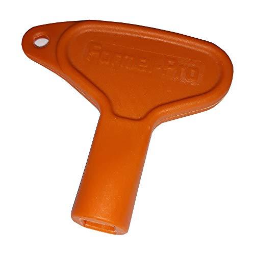Revisionsklappe Revisionstür verzinktes Stahlblech mit 4-Kantverschluss weiß RAL 9016 (Schlüssel 7mm vierkant für Revisionsklappe)