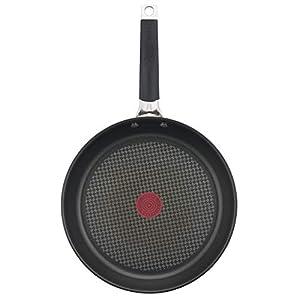 Tefal E43506.VEG Special Edition Jamie Oliver Classic Pfanne 28 cm, inkl. exklusivem Jamie Oliver Veggie Rezeptheft, Edelstahl