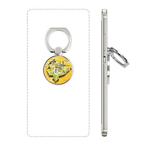 DIYthinker Taipei Travel Map China Mobiele Telefoon Ring Stand Houder Beugel Universele Smartphones Ondersteuning Gift