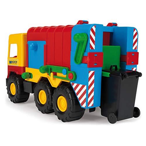 Wader Müllauto mit Mülltonne, Fahrzeug aus Kunststoff, bunt, 42 cm ׀ Wiemann Lehrmittel