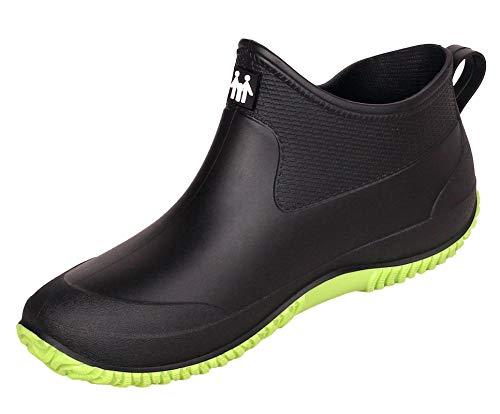Zapatos de Agua de Goma para Mujer Zapatos de Jardinería Impermeables Botas de Agua de Nieve Resbalón Botas de Lluvia de Goma de Neopreno para Hombres Calzado de Lavado de Autos