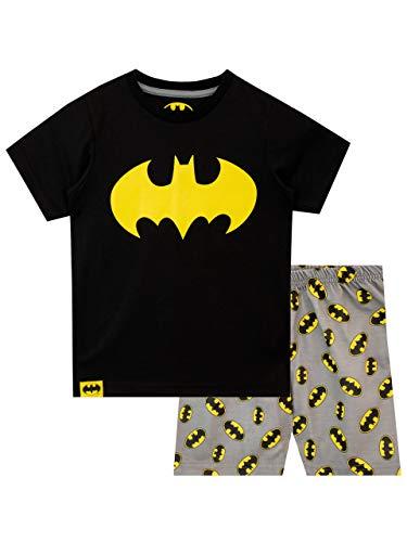 DC Comics Jungen Batman Schlafanzug Schwarz 128