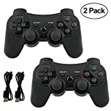 Lioeo Paquet de 2 Manette PS3 sans Fil Manette PS3 pour Playstation 3 Bluetooth...