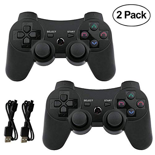 Mando PS3 inalámbrico Bluetooth Gamepad Doble vibración Six-Axis Mando a Distancia Joystick para Playstation 3 con Cable de Carga
