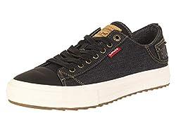 cheap Levi's Men's Neil Low 501 – Fashion Denim Sneakers, Black, 11m