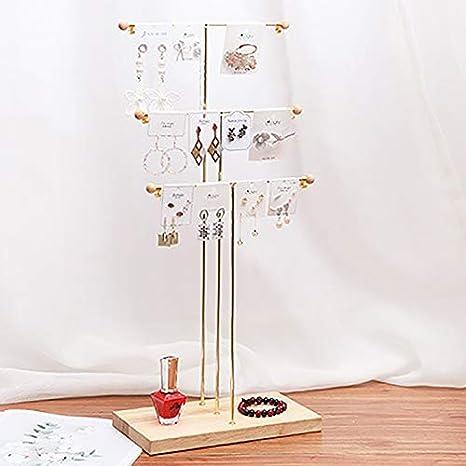ACAMPTAR M/éTal 3 Niveaux Bracelet de Table Collier Bijoux Collier Organisateur Affichage Arbre Porte-Bijoux Organisateur de Bijoux Bois Couleur