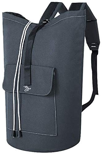 Laundry Backpack - Heavy Duty Bag for College Students Travel - Washable Portable XL Sized for Dirty Dorm Clothes