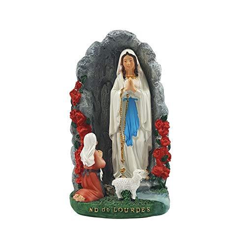 Madonna von Lourdes in der Grotte zu Lourdes Statue Deko Figur Mutter Gottes Heilige Maria Heiligenfigur