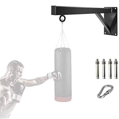 HYZXK Boxsackhalter Wandhalterung, Boxsack Box Hochleistungsstahl Wandregal für Boxen, MMA, UFC, Maiskolben und Boxsäcke, einschließlich Befestigungsschrauben, 200 kg Tragfähigkeit