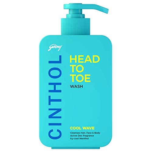 Cinthol Head to Toe, 3-in-1 Wash (Shampoo, Face-Wash & Body-Wash) for Men - COOL WAVE, 300ml, With Argan Oil & Ginseng Extracts