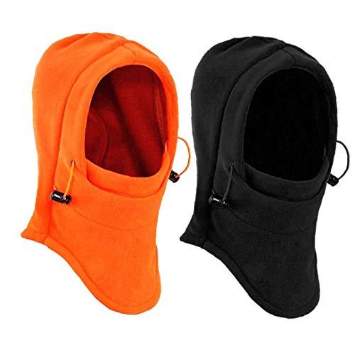 Masque Coupe-Vent Épais Caps Ski Hat 2pcs Hiver en Polaire pour Sports De Plein Air Coiffures Capot Thermique