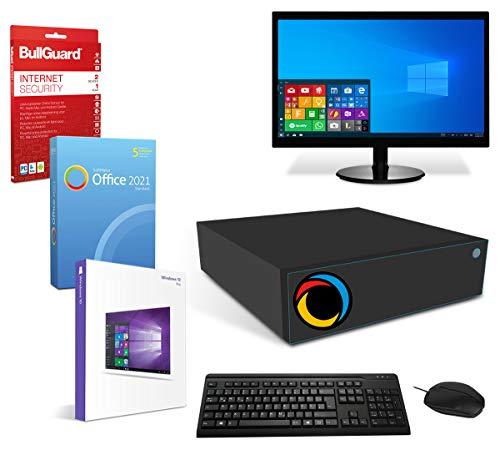 Office PC Komplettsystem mit Windows 10 Pro, 4 GB RAM 500 GB HDD 19 Zoll TFT Monitor, Maus & Tastatur, BT & W-LAN, BullGuard, SoftMaker Office