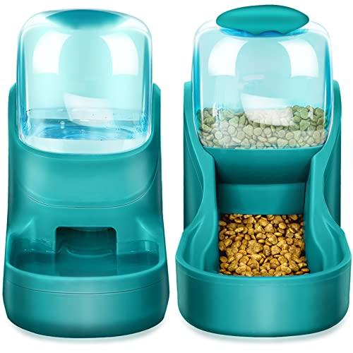 XingCheng-Sport Automatischer Futterautomat Kleine & Mittlere Haustiere Automatischer Futter- und Tränkesatz 3.8L, Reisefutterautomat und Wasserspender für Hunde Katzen Haustiere Tiere (Blue tkc)