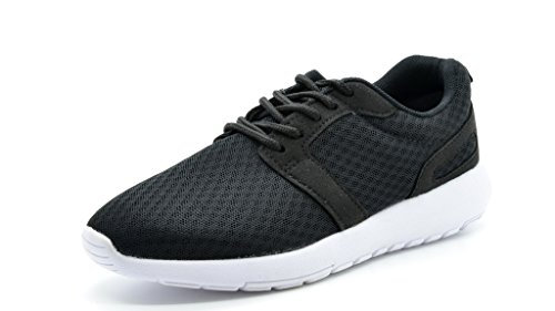 DREAM PAIRS 5004 Women's New Light Weight Go Easy Walking Casual Athletic Comfort Running Shoes Sneakers Black White Size 9
