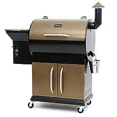 BBQ-Toro Pellet Smoker Grill PG1 | volautomatisch roken | Zwart - Goud | Pelletgrill incl. kap | Houten pelletgrill*