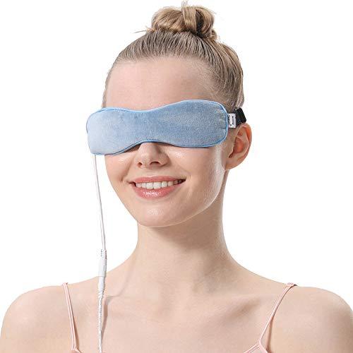 AROMA SEASON® | Elektrisch beheizbare Maske für die Augen | Wärmende Augenmaske | Gegen Blepharitis, Gerstenkorn, Trockene Augen, Augenringe