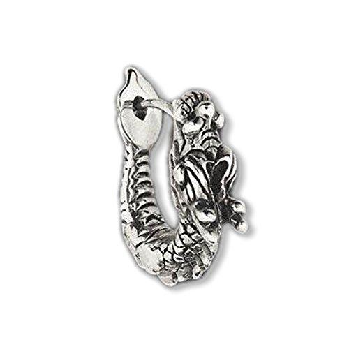 Ohrring Ohrstecker Drachen 925er Silber Schmuck