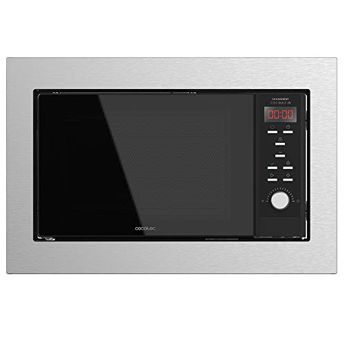 Cecotec Microondas encastrable Digital GrandHeat 2350 Built-In SteelBlack. 900W, Integrable, 23 Litros, Grill, 9 funciones preconfiguradas, Quick Start, Temporizador