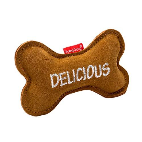 Ncbvixsw Hundespielzeug aus Leder mit Cartoon-Motiv, zum Kauen, für Hunde, Katzen, Welpen, Hundespielzeug