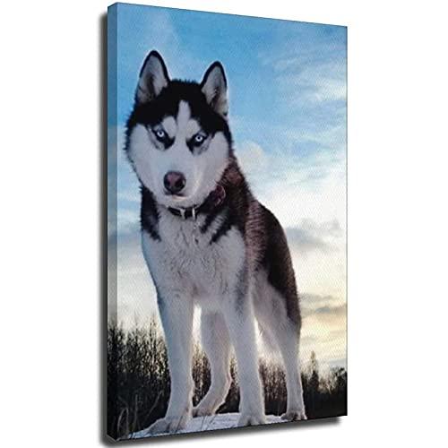 Husky siberiano decoración de la oficina arte de la pared para la...