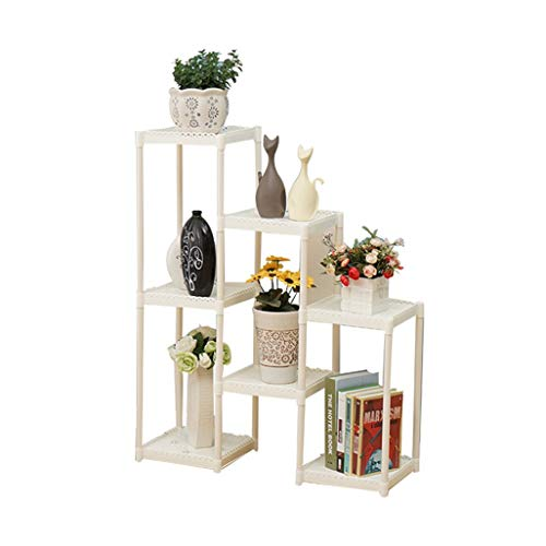 ChenDz Balcon étagère à fleurs multi-étages salon intérieur et extérieur en fer forgé plancher vert Stalking Orchid Storage Plant Basin Accueil