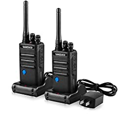 [Two-Way Radios for Adults and Kids]: 7.2 x 2 x 1.3 inches and 16 pre-programmed channels,small but suitable for adults and children,easy to use.You can have an indoor and outdoor conversation with your parents, or share your ideas with your little n...