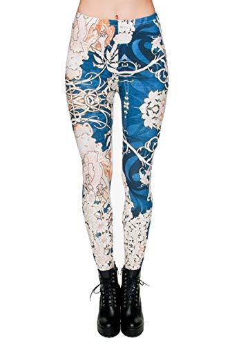 kukubird Printed Patterns Women's Yoga Leggings Gym Fitness Running Pilates Tights Skinny Pants Size 6-10 Stretchable-Muha2