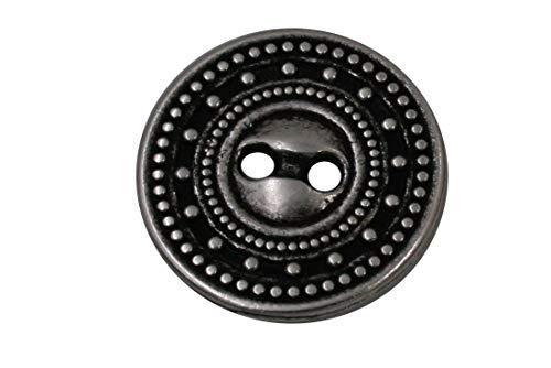 10 stuks 2 gaatjes zilver met zwarte knoppen van metaal 11 mm, 15 mm, 18 mm of 20 mm 18mm zilver