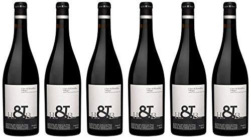 6x Côtes du Roussillon Villages Rouge 2014 - Weingut Hecht et Bannier, Languedoc-Roussillon - Rotwein