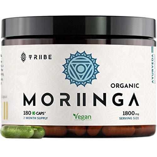 Tribe Organics, 1800mg Organic Moringa Oleifera for Energy, Weight...