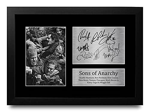 HWC Trading Sons of Anarchy A4 Gerahmte Signiert Gedruckt Autogramme Bild Druck-Fotoanzeige Geschenk Für Tv-Show-Fans