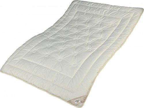 Garanta Zirbe Bettdecke 135 x 200 cm - Extra leichtes Sommer Steppbett - Füllung KBA Merino Schafschurwolle und Zirbenholz Spänen