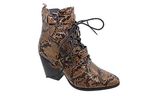Botines para mujer, para el tiempo libre, botas de cowboy, aspecto de piel de reptil, con relieve de cocodrilo, tallas 36-41
