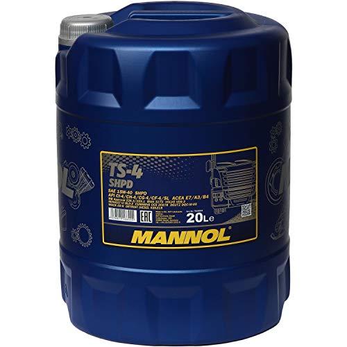 MANNOL TS-4Shpd 15W-40API ci-4/CH 4/cg-4/CF Flash 4/CF/SL Olio Motore, 20Litri